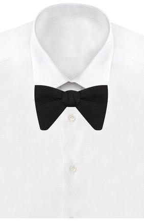 Детский шелковый галстук-бабочка GUCCI черного цвета, арт. 517674/4K002 | Фото 2