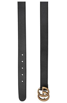 Детский кожаный ремень GUCCI черного цвета, арт. 432707/B960X | Фото 2