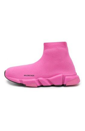 Детские текстильные кроссовки BALENCIAGA розового цвета, арт. 552595/W05G0 | Фото 2