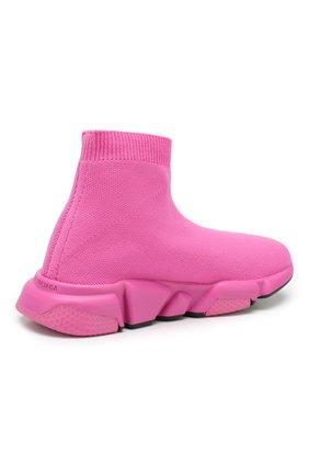 Детские текстильные кроссовки BALENCIAGA розового цвета, арт. 552595/W05G0 | Фото 3