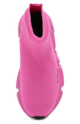 Детские текстильные кроссовки BALENCIAGA розового цвета, арт. 552595/W05G0 | Фото 4