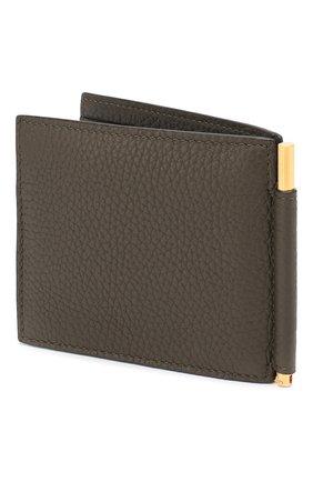 Мужской кожаный зажим для денег TOM FORD хаки цвета, арт. Y0231T-CP9 | Фото 2