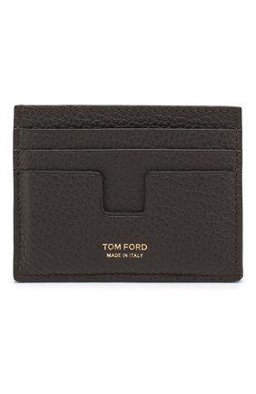 Мужской кожаный футляр для кредитных карт TOM FORD темно-коричневого цвета, арт. Y0233T-CP9 | Фото 1