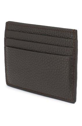 Мужской кожаный футляр для кредитных карт TOM FORD темно-коричневого цвета, арт. Y0233T-CP9 | Фото 2