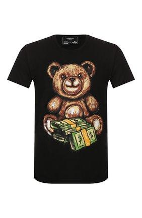 Мужская хлопковая футболка DOM REBEL черного цвета, арт. TEDDY/T-SHIRT | Фото 1
