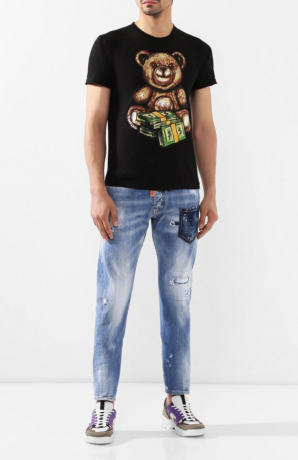 Мужская хлопковая футболка DOM REBEL черного цвета, арт. TEDDY/T-SHIRT | Фото 2