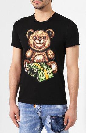 Мужская хлопковая футболка DOM REBEL черного цвета, арт. TEDDY/T-SHIRT | Фото 3