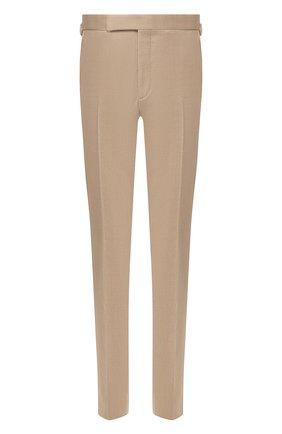 Мужские шерстяные брюки RALPH LAUREN бежевого цвета, арт. 798770065 | Фото 1