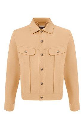 Мужская хлопковая куртка RALPH LAUREN бежевого цвета, арт. 790758518 | Фото 1