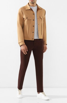 Мужская хлопковая куртка RALPH LAUREN бежевого цвета, арт. 790758518 | Фото 2