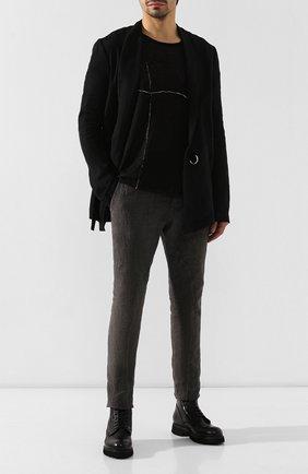 Мужские кожаные ботинки ROCCO P. черного цвета, арт. 9012/R0CK DEER | Фото 2