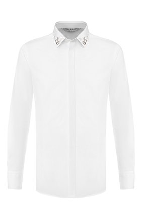 Мужская хлопковая рубашка NEIL BARRETT белого цвета, арт. PBCM1236C/M078C | Фото 1