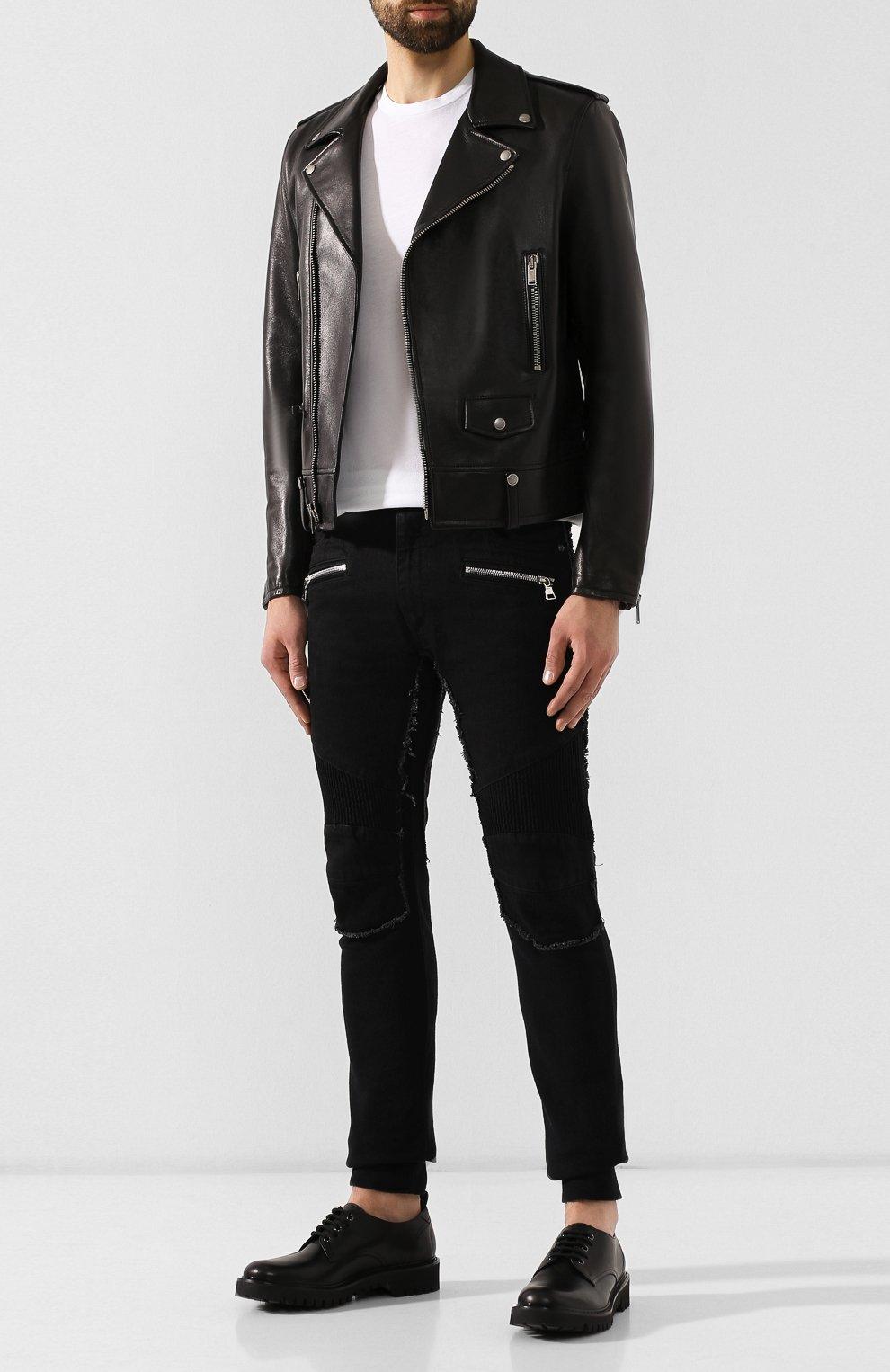 Мужская комплект из хлопковых футболок NEIL BARRETT черно-белого цвета, арт. PBJT588/M554S | Фото 2