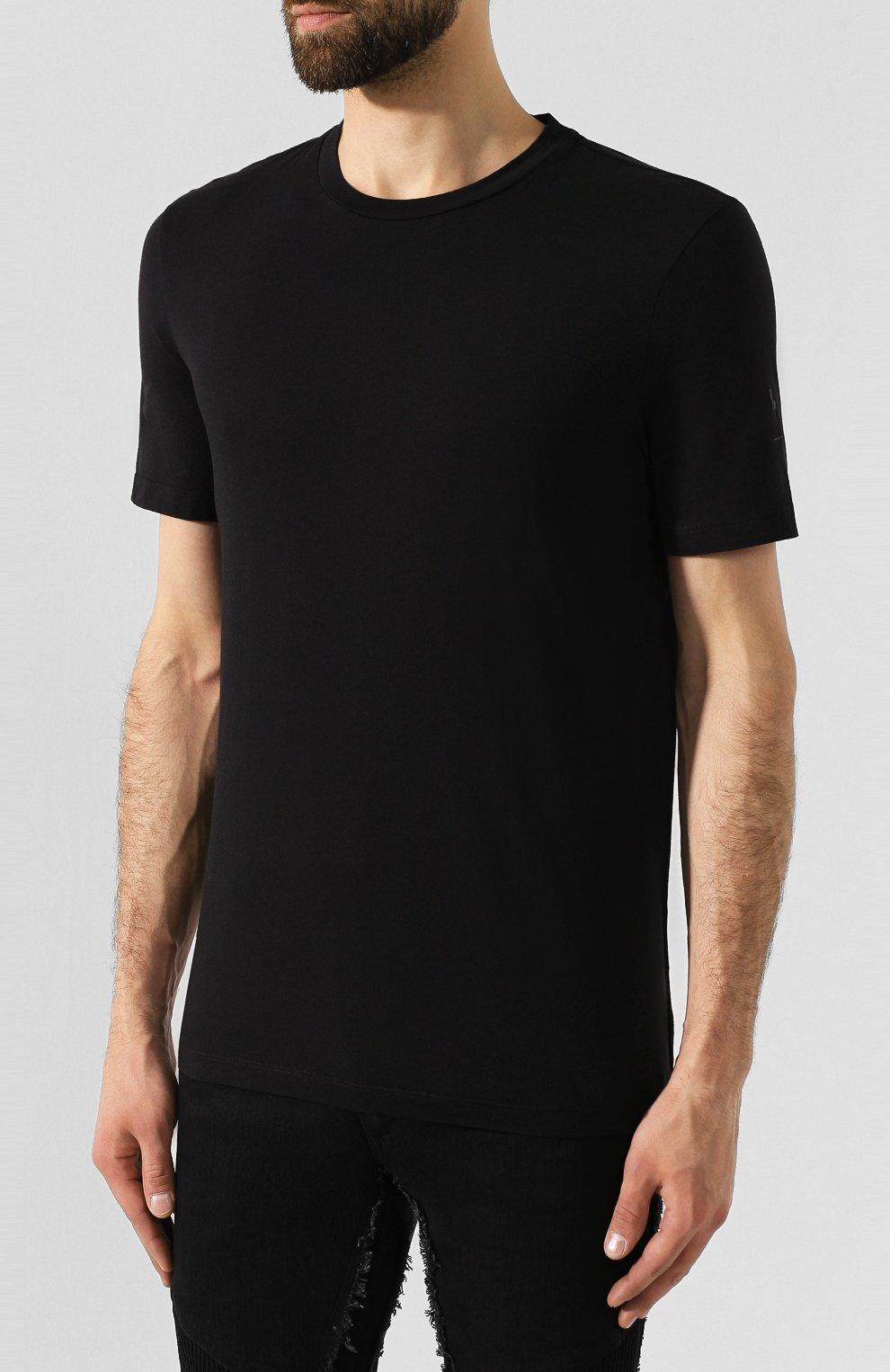 Мужская комплект из хлопковых футболок NEIL BARRETT черно-белого цвета, арт. PBJT588/M554S | Фото 6