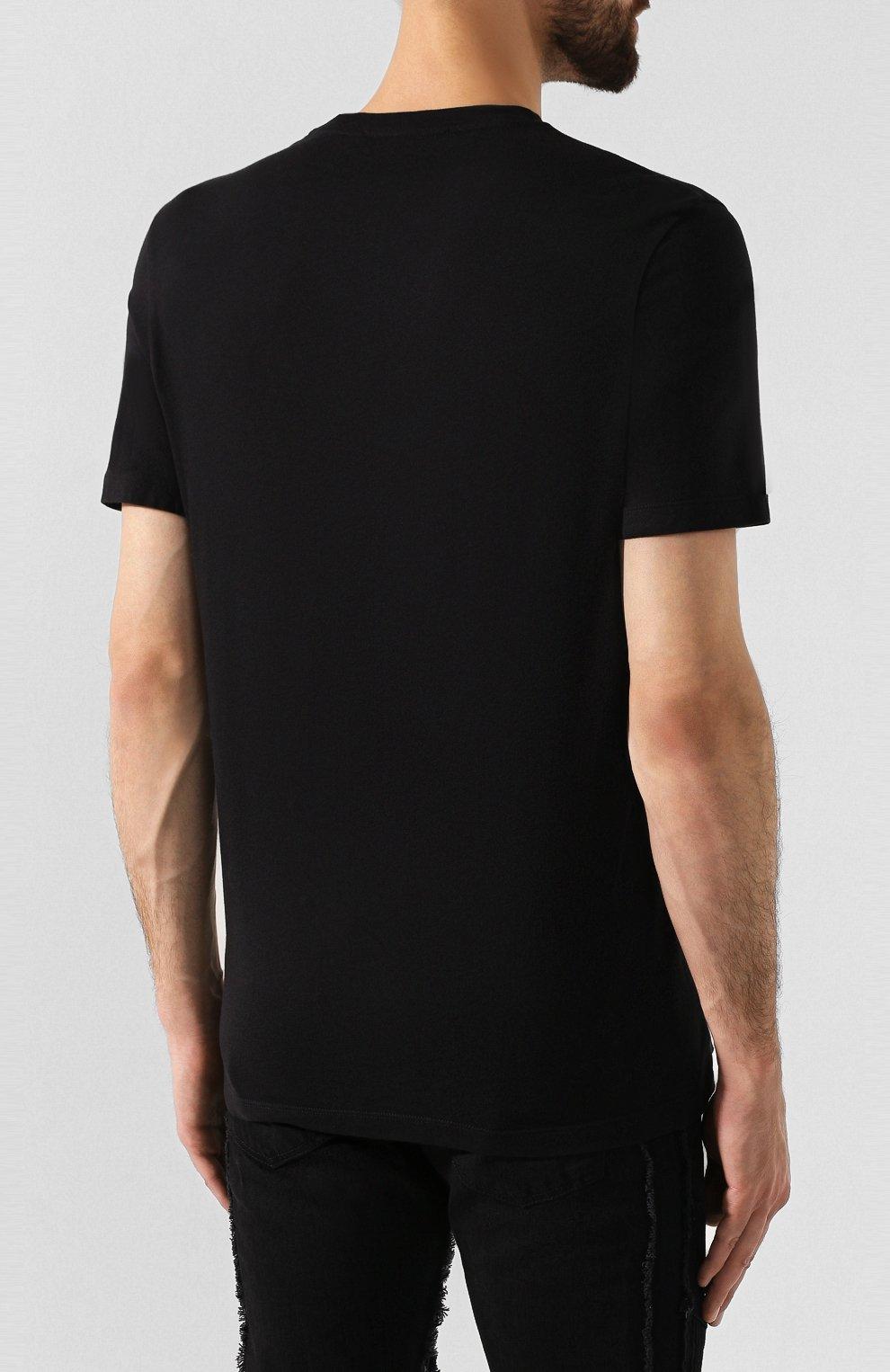 Мужская комплект из хлопковых футболок NEIL BARRETT черно-белого цвета, арт. PBJT588/M554S | Фото 7