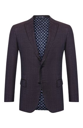 Мужской кашемировый пиджак ZILLI сиреневого цвета, арт. MNS-VG2Y-2-B6626/0002 | Фото 1