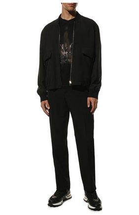 Мужская хлопковая футболка ZILLI черного цвета, арт. MES-NT220-FIRE1/MC01   Фото 2