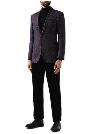 Мужской хлопковые брюки ZILLI черного цвета, арт. M0S-D0128-VEL01/R001 | Фото 2