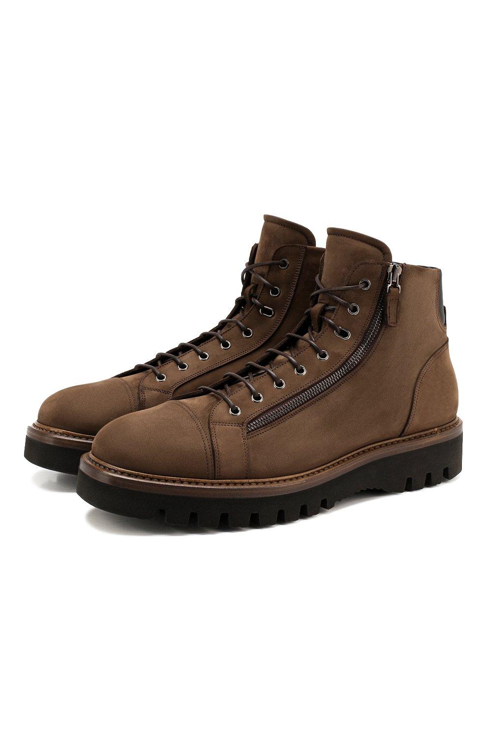 Мужские замшевые ботинки W.GIBBS коричневого цвета, арт. 0672001/1804   Фото 1