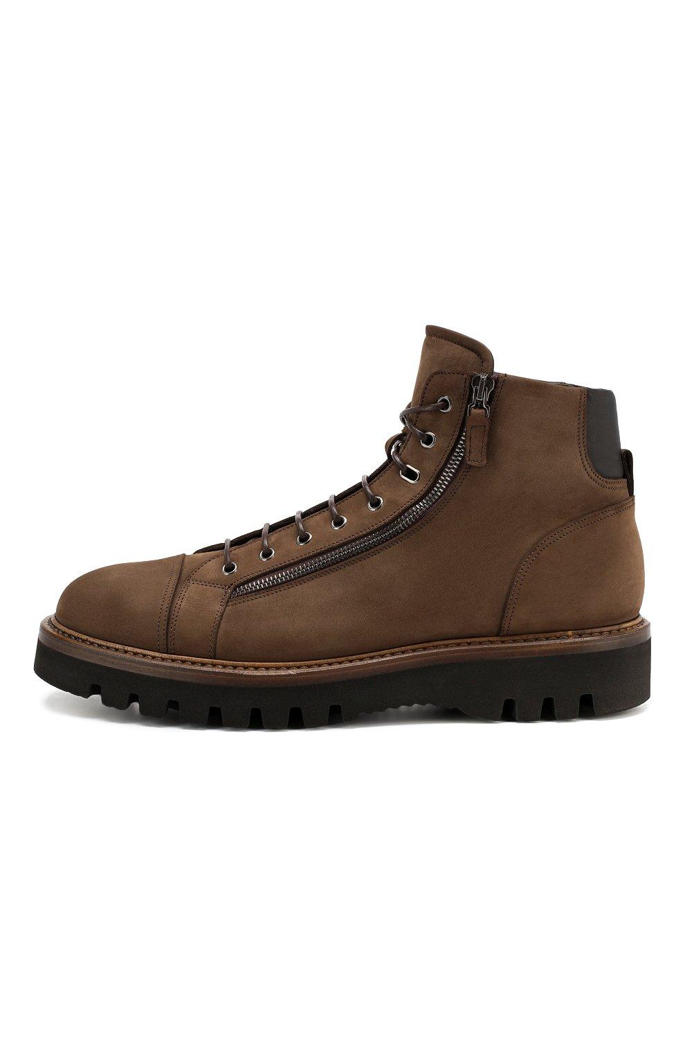 Мужские замшевые ботинки W.GIBBS коричневого цвета, арт. 0672001/1804   Фото 3