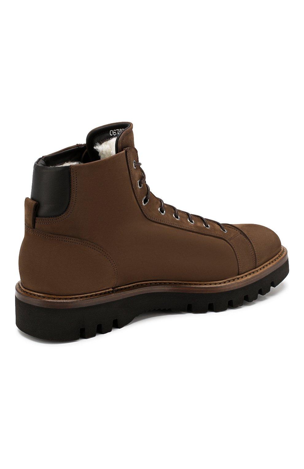 Мужские замшевые ботинки W.GIBBS коричневого цвета, арт. 0672001/1804   Фото 4