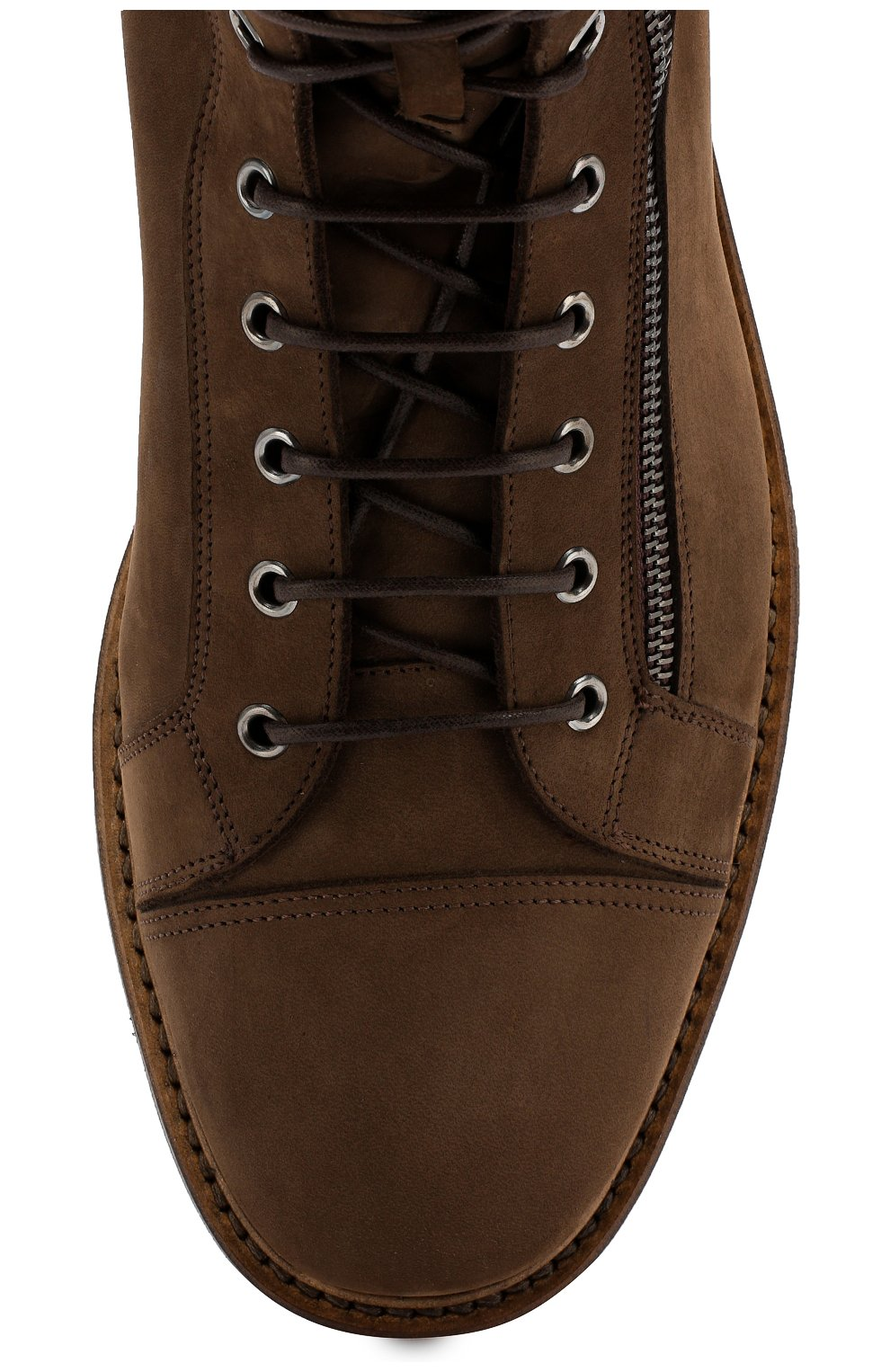 Мужские замшевые ботинки W.GIBBS коричневого цвета, арт. 0672001/1804   Фото 5