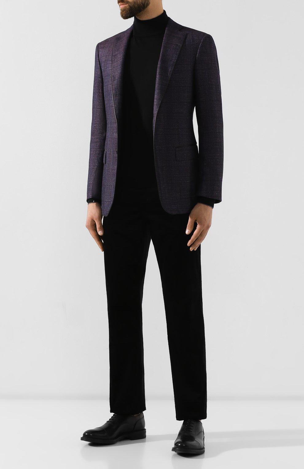 Мужские кожаные оксфорды W.GIBBS черного цвета, арт. 3169009/0214 | Фото 2