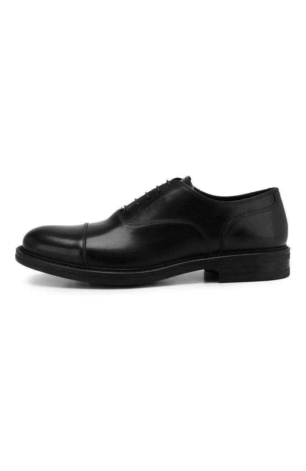 Мужские кожаные оксфорды W.GIBBS черного цвета, арт. 3169009/0214 | Фото 3