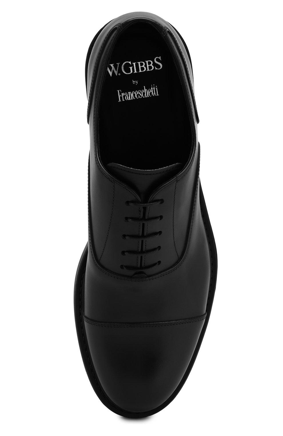 Мужские кожаные оксфорды W.GIBBS черного цвета, арт. 3169009/0214 | Фото 5