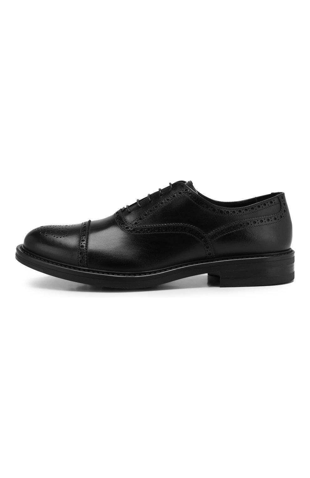 Мужские кожаные оксфорды W.GIBBS черного цвета, арт. 3169010/0214 | Фото 3
