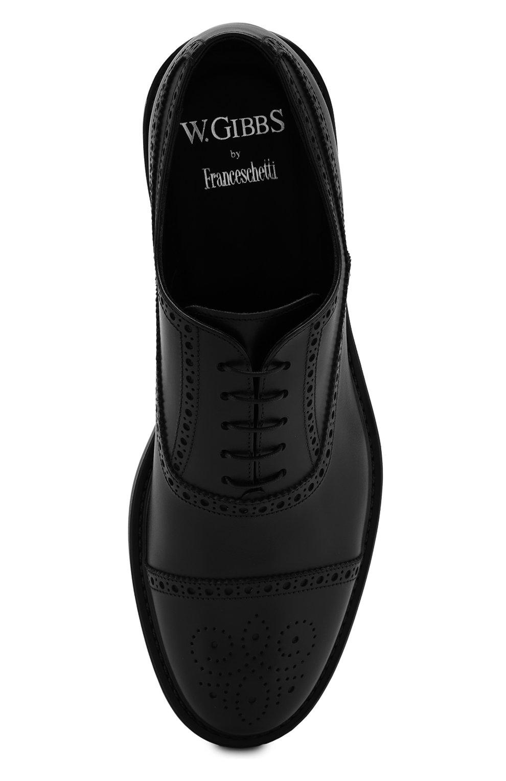 Мужские кожаные оксфорды W.GIBBS черного цвета, арт. 3169010/0214 | Фото 5