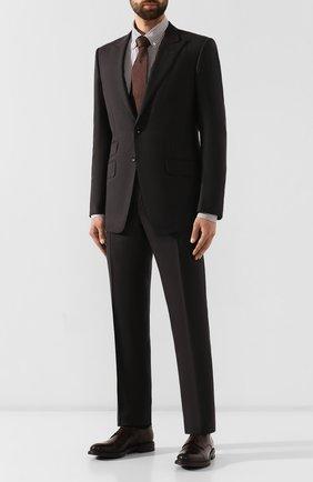 Мужские кожаные дерби W.GIBBS темно-коричневого цвета, арт. 3169012/0214 | Фото 2