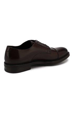Мужские кожаные дерби W.GIBBS темно-коричневого цвета, арт. 3169012/0214 | Фото 4