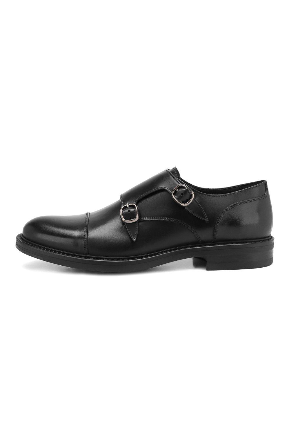 Мужские кожаные монки W.GIBBS черного цвета, арт. 3169013/0214 | Фото 3