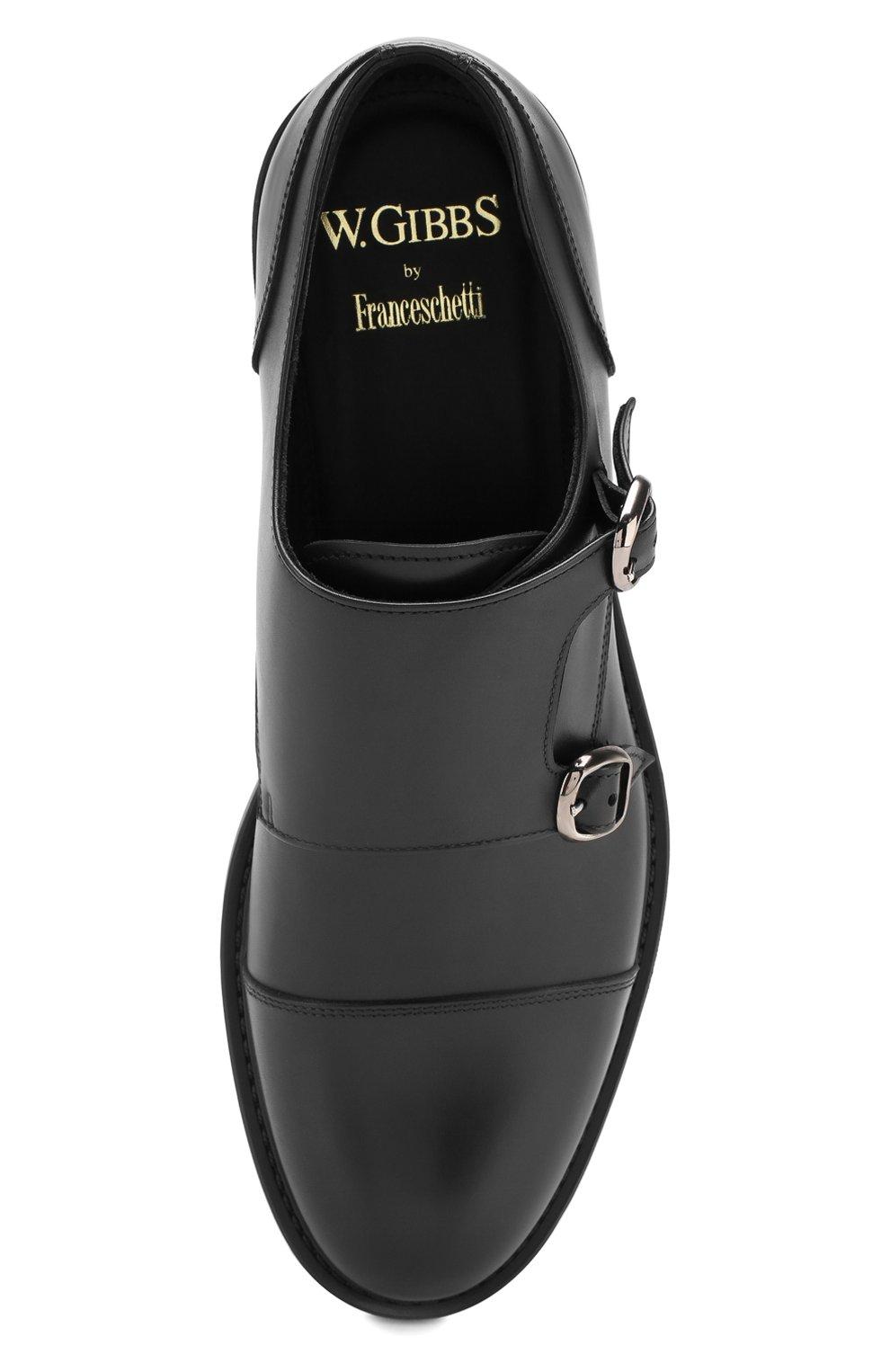 Мужские кожаные монки W.GIBBS черного цвета, арт. 3169013/0214 | Фото 5