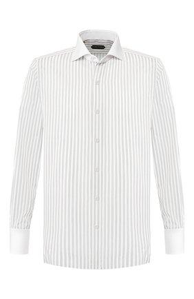 Мужская хлопковая сорочка TOM FORD белого цвета, арт. 6FT210/94SWAX | Фото 1