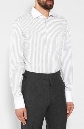 Мужская хлопковая сорочка TOM FORD белого цвета, арт. 6FT210/94SWAX | Фото 3