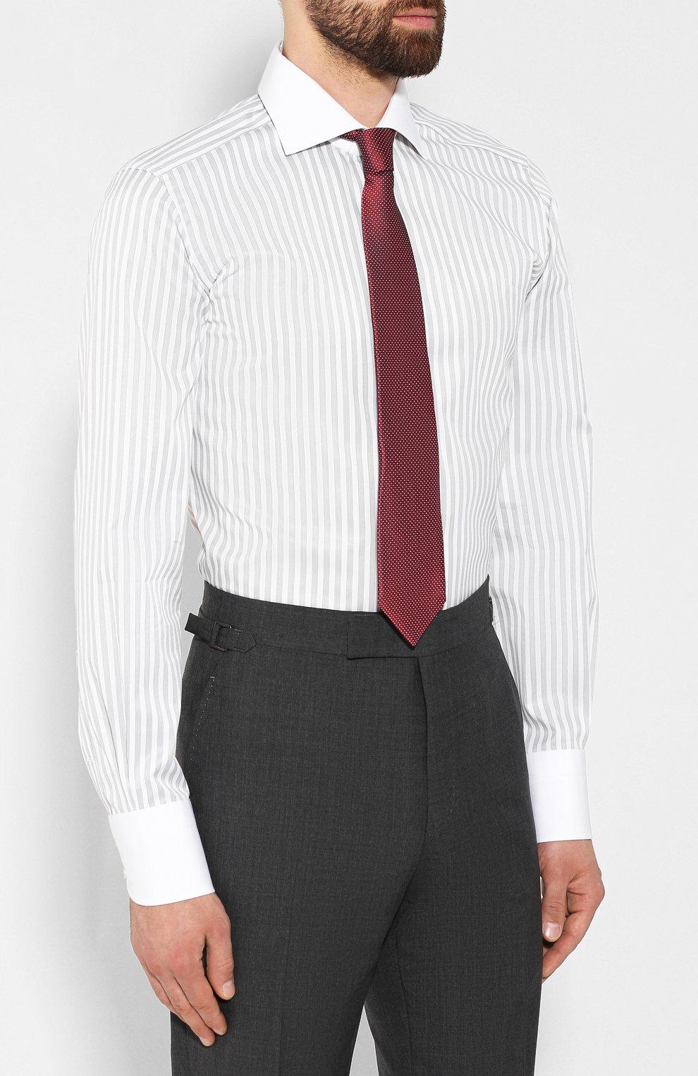Мужская хлопковая сорочка TOM FORD белого цвета, арт. 6FT210/94SWAX | Фото 4