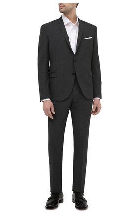 Мужские кожаные монки SANTONI черного цвета, арт. MCC016036MC3HVVDN01 | Фото 2 (Статус проверки: Проверено, Проверена категория; Материал внутренний: Натуральная кожа; Стили: Классический)