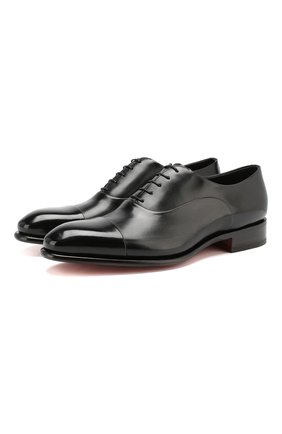 Мужские кожаные оксфорды SANTONI черного цвета, арт. MCCR12621MC1HVVDN01 | Фото 1
