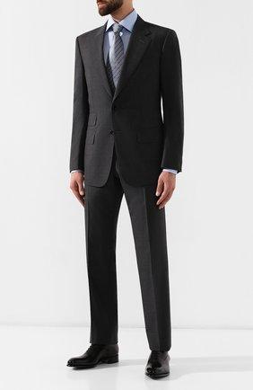 Мужские кожаные оксфорды SANTONI черного цвета, арт. MCCR12621MC1HVVDN01 | Фото 2 (Материал внутренний: Натуральная кожа; Статус проверки: Проверено, Проверена категория; Стили: Классический)