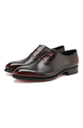Мужские кожаные оксфорды SANTONI темно-коричневого цвета, арт. MCCR16229MC1HNGWN52 | Фото 1