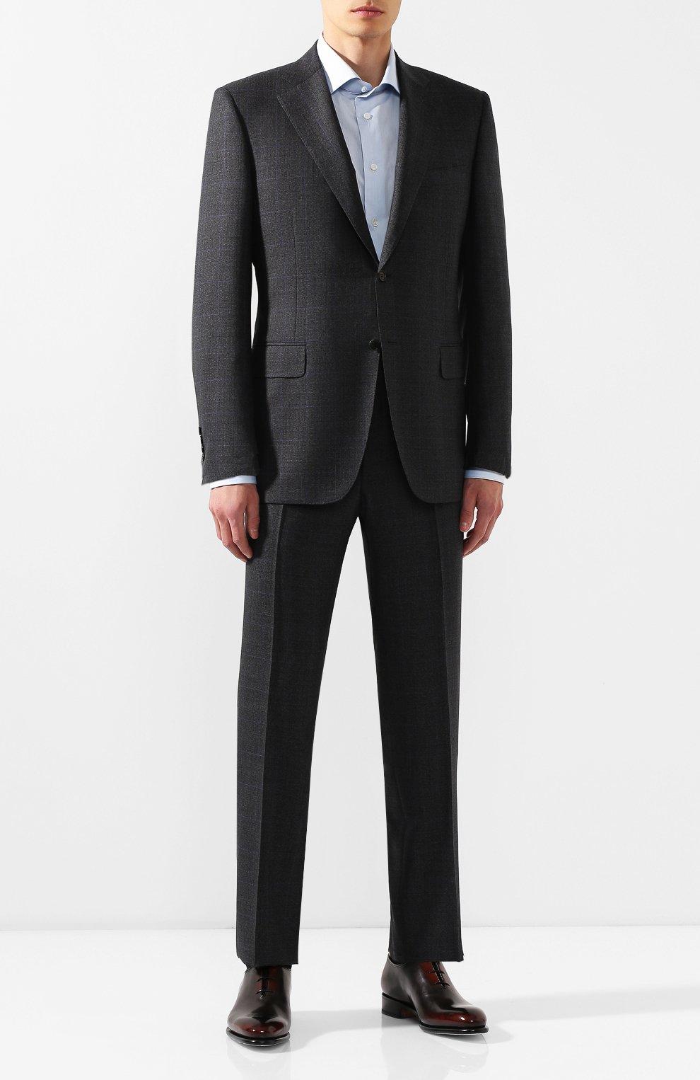 Мужские кожаные оксфорды SANTONI темно-коричневого цвета, арт. MCCR16229MC1HNGWN52 | Фото 2
