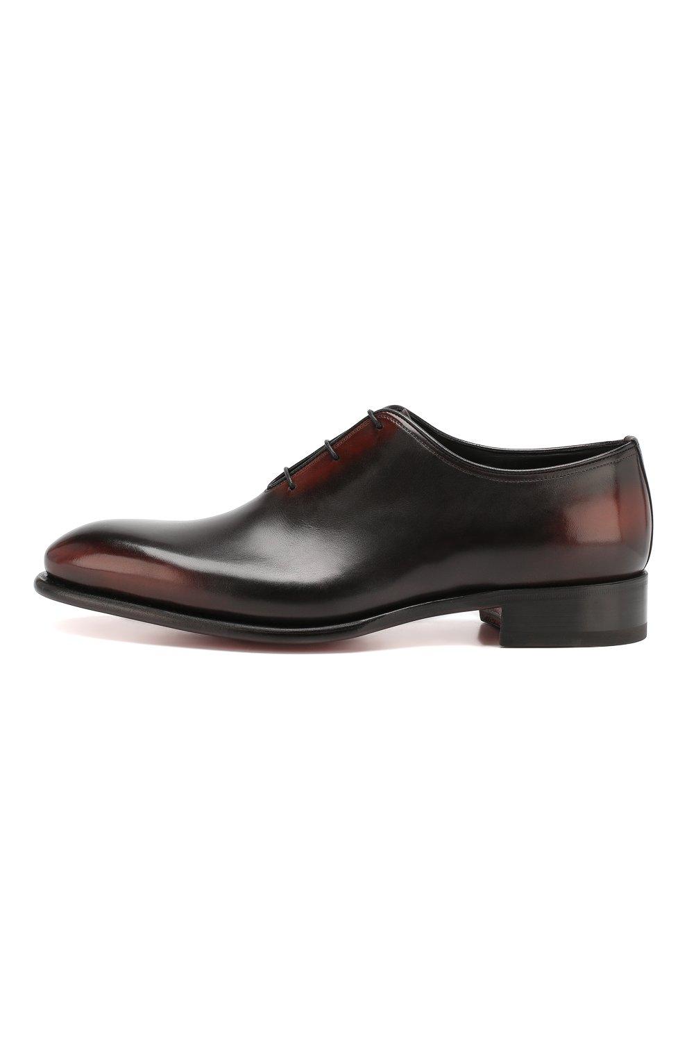 Мужские кожаные оксфорды SANTONI темно-коричневого цвета, арт. MCCR16229MC1HNGWN52 | Фото 3