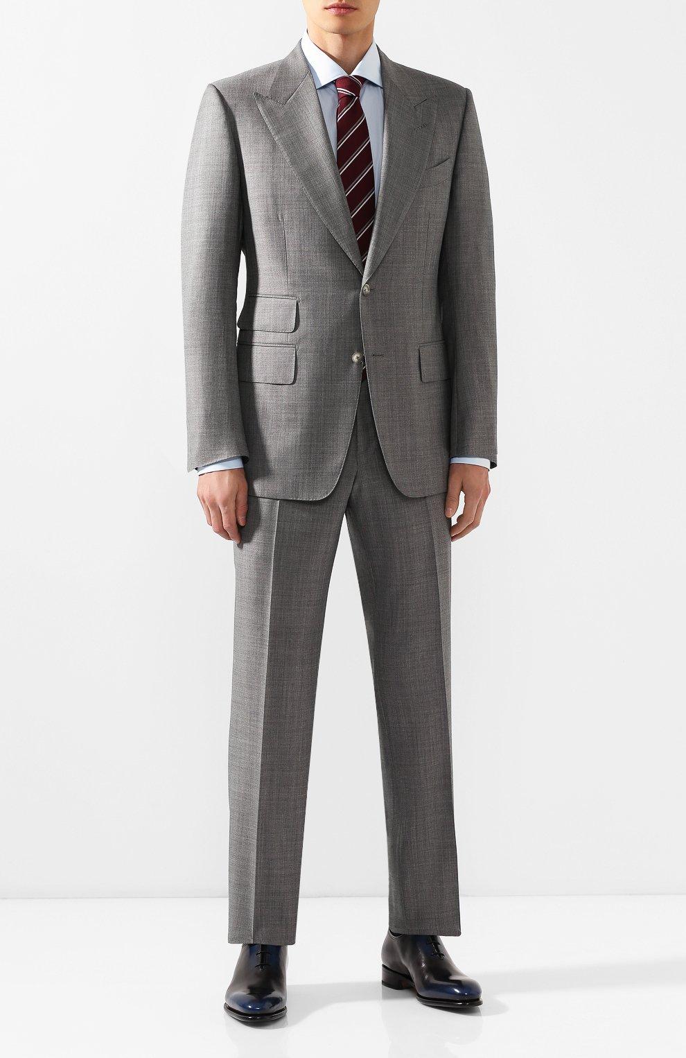 Мужские кожаные оксфорды SANTONI темно-синего цвета, арт. MCCR16229MC1HNGWN56   Фото 2