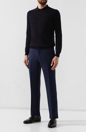 Мужские кожаные пенни-лоферы SANTONI черного цвета, арт. MCNC15609SI1ESKTN01 | Фото 2