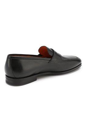 Мужские кожаные пенни-лоферы SANTONI черного цвета, арт. MCNC15609SI1ESKTN01 | Фото 4