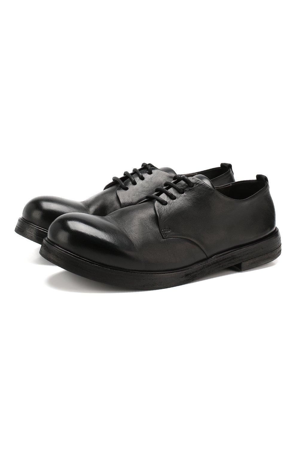 Мужские замшевые дерби MARSELL черного цвета, арт. MM1330/CAV.GLUC | Фото 1