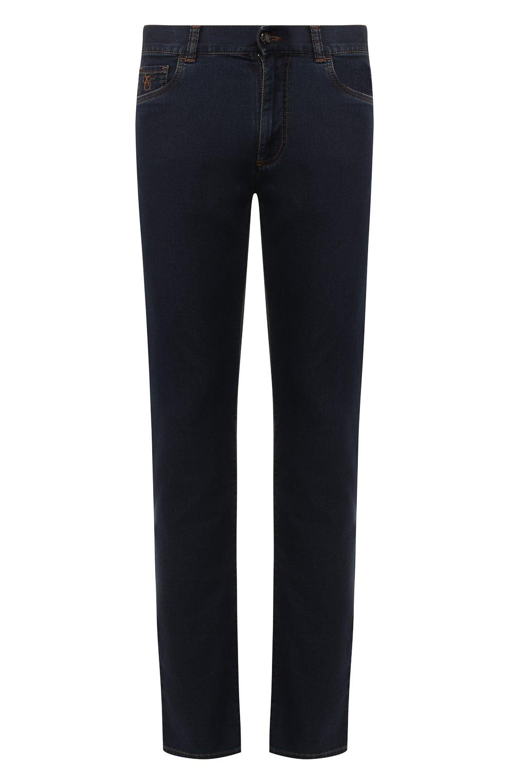 Мужские джинсы CANALI темно-синего цвета, арт. 91700R/PD00537 | Фото 1