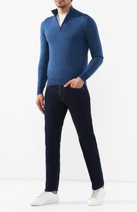 Мужские джинсы CANALI темно-синего цвета, арт. 91700R/PD00537 | Фото 2